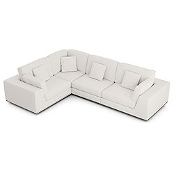 Perry Sectional 2 Arm Corner Compact Sofa