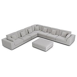 Perry Sectional Large 2 Arm Corner Sofa w Ottoman