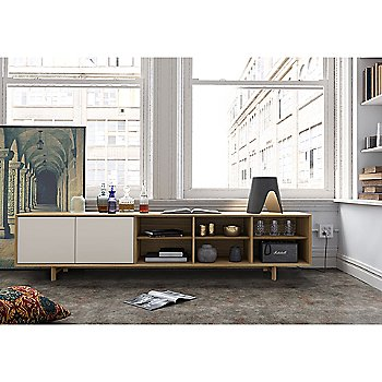 Chiswick Media Cabinet with Abbey Table Lamp