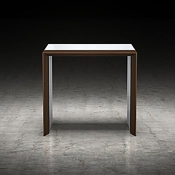 White Lacquer and Walnut finish / front view / in use