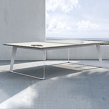 Amsterdam Outdoor Ping Pong Table, in use