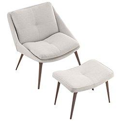 Columbus Lounge Chair and Ottoman