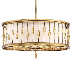 Olivetas Drum Shade Pendant Light