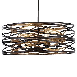 Vortic Flow Drum Shade Pendant Light (Small) - OPEN BOX