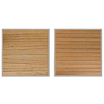 Abstract Slats (left) / Straight Slats (right)