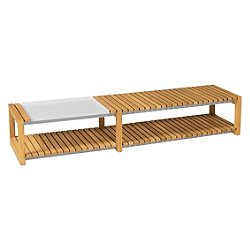 Ekka Long Coffee Table with Tray
