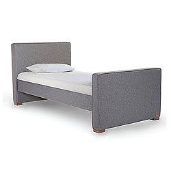 Dorma Twin Wool & Walnut Upholstered Bed Limited Edition