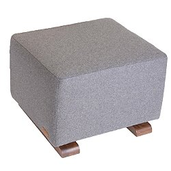 Vola Wool & Walnut Ottoman, Limited Edition