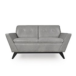Wegner Leather Contemporary Loveseat