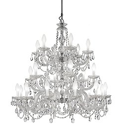 Drylight 24 Light LED Outdoor Chandelier