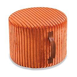 Coomba Orange Cylinder Pouf