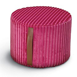 Coomba Pink Cylinder Pouf