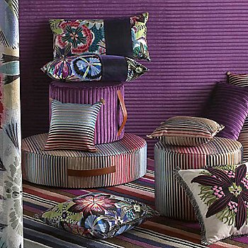 Part of Missoni Home's Passiflora T50 Indigo Collection