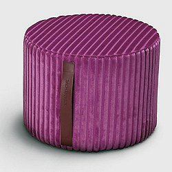 Coomba Purple Cylinder Pouf