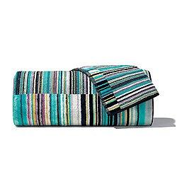 Jazz Blue Bath Towel 2 Piece Set