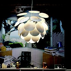 Discoco Pendant Light (White/34 inch Diameter) - OPEN BOX RETURN