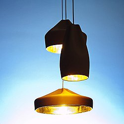 Pleat Box 9 Inch Pendant Light (Black with Gold) - OPEN BOX RETURN