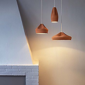 Terracotta Finish with White Interior / in use