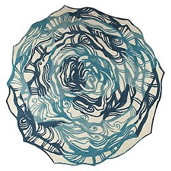 Hibiscus Rug (Turquoise/6 Ft Round) - OPEN BOX RETURN