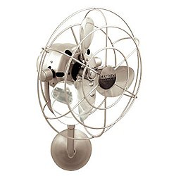 Michelle Parede Wall Fan (Brushed Nickel) - OPEN BOX RETURN