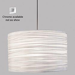 Silence Drum Pendant (Silver/Chrome/14/LED) - OPEN BOX