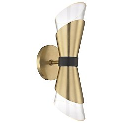 Angie Double Wall Sconce (Aged Brass) - OPEN BOX RETURN