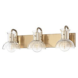 Riley Bath Bar (Aged Brass/3 Lights) - OPEN BOX RETURN
