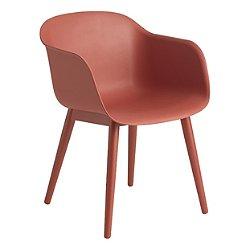 Fiber Chair, Wood Base (Remix 643/Dusty Red)-OPEN BOX RETURN