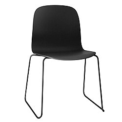 Visu Chair, Sled Base by Muuto (Black) - OPEN BOX RETURN