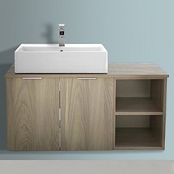 Arcom Right Shelf Vanity with Sink