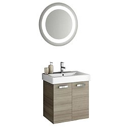 Cubical Wall Mounted Vanity with Mirror
