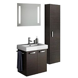 Cubical Vanity Set with Tall Cabinet + Mirror