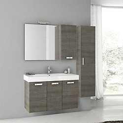 Cubical Vanity Set with Mirror + Two Cabinets