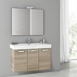 Cubical 2 40 Inch Vanity Set with Mirror