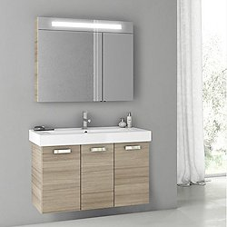 Cubical 2 40 Inch Vanity Set with Lit Medicine Cabinet