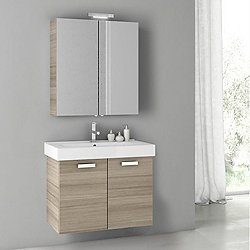 Cubical 2 40 Inch Vanity Set with Medicine Cabinet + Light