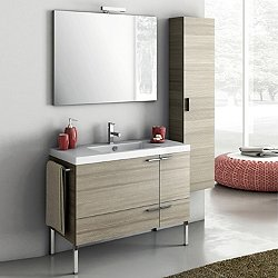 New Space 39 Inch Vanity with Cabinet + Mirror
