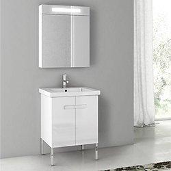New York Floor Standing Vanity Set + Medicine Cabinet
