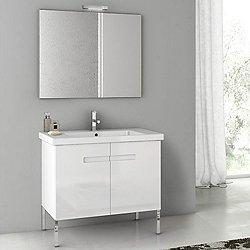 New York 32 Inch Vanity Set with Mirror + Light