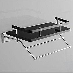 Grip Bathroom Shelf with Towel Bar