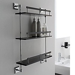 Grip Tri-Level Bathroom Shelf