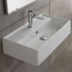 Teorema Wall Mounted or Vessel Sink Modern Bathroom Sinks  YLiving