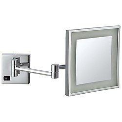 Glimmer LED Wall-Mounted Square Makeup Mirror