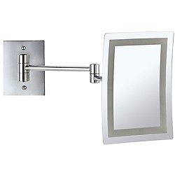Glimmer LED Wall-Mounted Rectangle Makeup Mirror