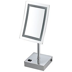 Glimmer LED Light Free Standing Makeup Mirror AR7715