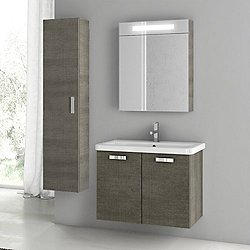City Play 30 Inch Wall Mounted Vanity Set CP50