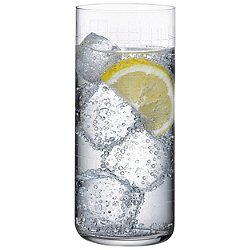 Finesse Grid Long Drink Glass Set of 4