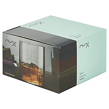 Finesse Grid Set of 4 Whisky DOF Glasses box