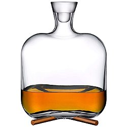 Camp Whisky Bottle with Brass Base