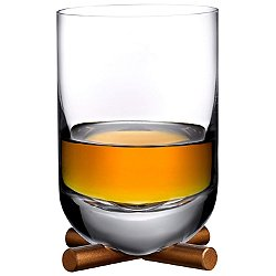 Camp Whisky DOF Glass with Brass Base